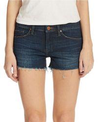 Blank | Blue Dark Wash Cut-Off Shorts | Lyst