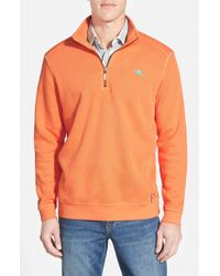 Tommy Bahama | Orange 'antigua Cove' Half Zip Pullover for Men | Lyst
