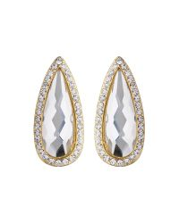 Mikey | Multicolor Slim Oval Marquise Stud Earring | Lyst