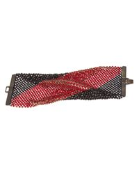 Laura B - Red Crystal and Beaded Bracelet - Lyst