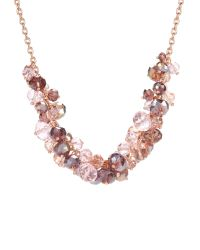 Ted Baker - Pink Bead Cluster Necklace - Lyst