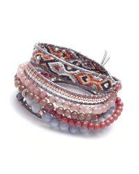Nakamol - Purple Sagaciousness Wrap Bracelet-Pink Jasper - Lyst