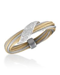 Alor | Metallic Micro-cable Pavé Diamond Wrap Ring | Lyst