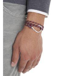 Miansai | Red Burgundy Triple Wrap Rope Hook Bracelet for Men | Lyst