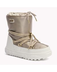 Tommy Hilfiger | Metallic Laced Boot | Lyst