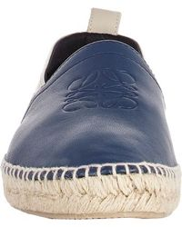 Loewe - Blue Two-Tone Espadrilles for Men - Lyst