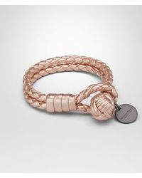 Bottega Veneta - Natural Bracelet In Petale Intrecciato Gros Grain - Lyst