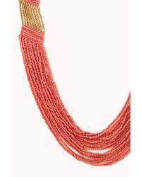Forever 21 - Metallic Free Spirit Beaded Necklace - Lyst