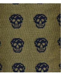 Alexander McQueen - Green Skull Socks for Men - Lyst