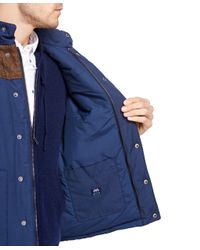 Brooks Brothers - Blue Vest With Tweed Yoke for Men - Lyst