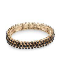 Anne Klein | Metallic Chain Reaction Multi-row Stone Bracelet | Lyst