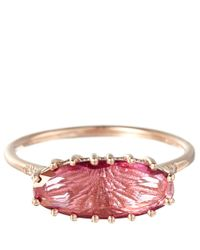Suzanne Kalan | Rose Gold Pink Topaz Oval Ring | Lyst