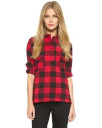 BB Dakota | Coleman Plaid Top - Black | Lyst
