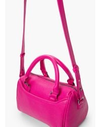 Mango | Pink Cross-body Pebbled Bag | Lyst