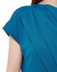 Jaeger - Blue Jersey Draped Dress - Lyst