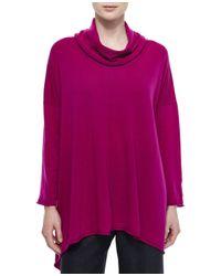 Eskandar - Purple Cowl-neck Long Cashmere Sweater - Lyst