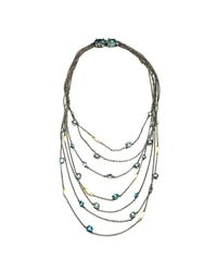 Alexis Bittar - Metallic Midnight Marquis Multi Strand Necklace With 18k Gold - Lyst
