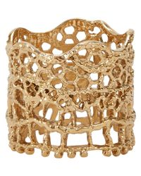 Aurelie Bidermann | Metallic Lace Ring | Lyst