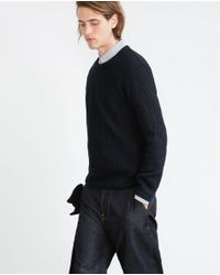 Zara | Black Rib Knit Sweater for Men | Lyst