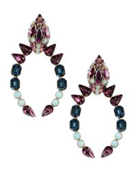 Roberto Cavalli | Purple Earrings | Lyst