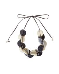 Max Mara - Black Caprera Beaded Necklace - Lyst