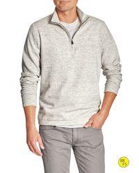 Banana Republic   Gray Factory Half-zip Mock-neck Pullover for Men   Lyst