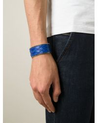 Aech Cheli | Blue 'zip' Bracelet for Men | Lyst