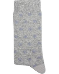Alto Milano | Gray Spot Short Socks - For Women | Lyst