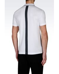 EA7 | White Short-sleeved Polo for Men | Lyst