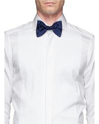 Lanvin - Green Silk Bow Tie for Men - Lyst