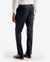 Ted Baker - Blue Micro Design Wool Trousers for Men - Lyst