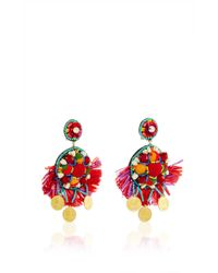 Ranjana Khan | Red Coin Embellished Drop Earrings | Lyst