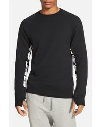Nike - Black 'everett' Graphic Crewneck Fleece for Men - Lyst