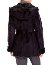 Jones New York | Black Faux Fur Lined Coat | Lyst