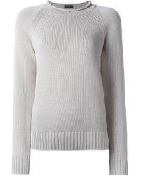 JOSEPH - White Side Detail Knitted Jumper - Lyst