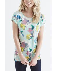 Oasis - Green Bold Bloom Print Tee - Lyst