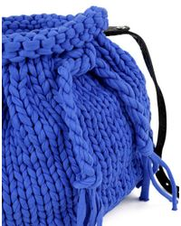 Wool And The Gang | Blue Brooke Bucket Bag | Lyst