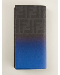 Fendi - Blue Billfold Wallet for Men - Lyst