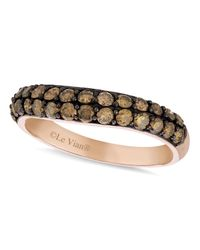 Le Vian | Brown Chocolate Diamond Wedding Band (9/10 Ct. T.w.) In 14k Rose Gold | Lyst