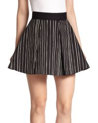 Alice + Olivia - Black Libby Fit-&-flare Skirt - Lyst