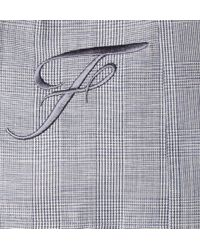 Façonnable - Blue Prince Of Wales Check Mohair, Linen And Silk-Blend Blazer for Men - Lyst