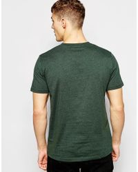 Stussy | T-shirt With V Neck In Ivy Green Marl for Men | Lyst