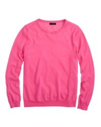 J.Crew | Pink Collection Featherweight Cashmere Long-sleeve T-shirt | Lyst