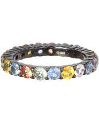 M.c.l - Multicolor Large Multicolour Sapphire Ring - Lyst
