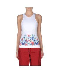 Stella McCartney - White Run Floral Print Tank - Lyst