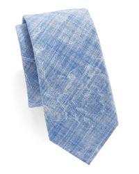 Original Penguin | Blue Floral Print Tie for Men | Lyst