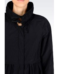 Armani | Black Parka In Technical Fabric | Lyst