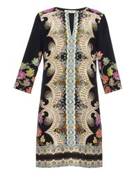 Etro | Multicolor Paisley-Print Silk Tunic Dress | Lyst