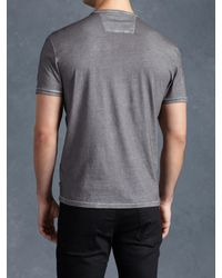 John Varvatos - Black Cotton V-neck for Men - Lyst