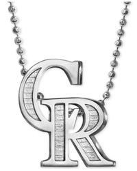 Alex Woo - Metallic Mlb Collection By Sterling Silver Colorado Rockies Pendant Necklace - Lyst